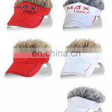 Flair Hair Hat Visors with assorted colors hair