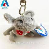 girl toy bow small mouse plush stuffed keychain