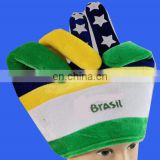 Hot selling Brazil world cup peace sign hand hat