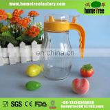 plastic lid glass cooking oil can with handle 400ML