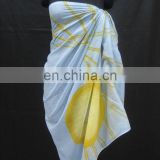 Promotional 100% Cotton Printed Pareo / Sarong for Beach & Pool Party