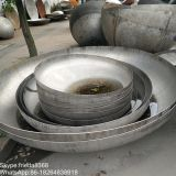 Steel dish head with polishing surface for oil tank