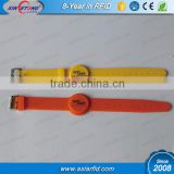 Waterproof Adjustable Eco-friendly rfid silicone NFC wristband NTAG213 chip