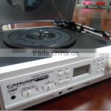 Belt-drive turntable player, classic phonograph, record player with cassette