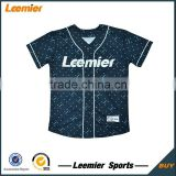 Men's custom made sublimation throwback baseball jersey