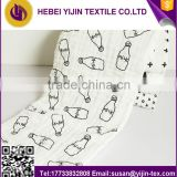 Swaddle blanket 100% cotton printed baby muslin organic white muslin cotton cloths cotton muslin blanket