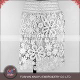 OEM pictures of fashionable adult women skirts high waist white mesh lace embroidery                                                                                                         Supplier's Choice