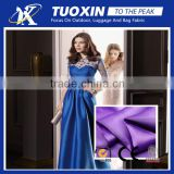 shiny Dress fabric/colorful satin stretch evening dress fabric/polyester satin fabric