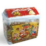 AN286 ANPHY Christmas Candy Food Decoration Colorful Flip Tin Gift Box Holder Display 16*10*15cm