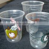 GMP factory clear PS plastic aviation cup water cup