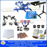 NS402-S Full set manual carousel 4 Color 2 Station bench top screen prinitng press machine for t-shirt