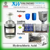 (ISO Manufacturer) mining / oil industry grade Hydrochloric Acid HCL 33% with best price