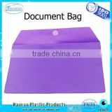 PVC envelop hook and loop closure document bag