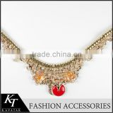 Fox Logo Beading Women Collar/Plated Alloy Beaded Neck Collar