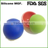 Round silicone ball shaped ice cube tray with cover