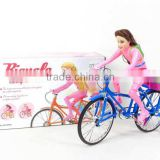 2016 New design battery operate bicycle with the fashion doll with the colorful light and music
