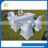 Elegant Outdoor 6 People Powdercoat Metal Frame Foldable Plastic Table/ HDPE Top Folding Table