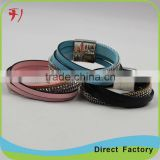 New Fashion Jewelry genuine leather Wrap weave beads bracelet                                                                                                         Supplier's Choice