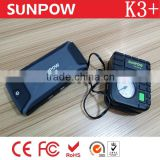 FENGJIU SUNPOW high capacity rechargeable emergency lithium battery 12v car jump starter with air compressor