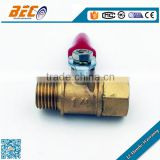 Forged brass ball valve with NPT male female thread
