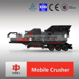 Mobile jaw Crusher Plant Equipment for crushing copper ore and rock by Luoyang ZHONGDE