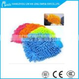 microfiber chenille car wash mitt/magic gloves microfiber gloves/sheepskin car wash glove