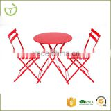 Easy storage & weather resistant mental outdoor patio garden folding bistro set wholesale