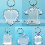 Clear Blank Insert Photo Picture Acrylic Frame Keyring Keychain Gift HOT                                                                         Quality Choice