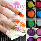 3D 4D Miniature carving gel For UV/LED use 12 color Emboss soak off gel Lace sculpture Nail art tips New functional High quality