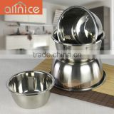 Set of 5 metal chef spice bowl/stainless steel sauce containers/condiment bowl