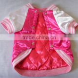 Dog jacket with cute pink color for baby girl dog / pet fresh new coat clothes