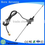 CMMB Vehicle Mounted digital TV Antenna double copper oscillator of brass (5dBi ) SMA Connector 3 meters horn antenna