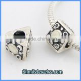 Wholesale Fashion Classical Enamel Triangle Silver Beads BES38