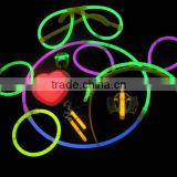 chemical glow stick for glow bracelet & glow eye glasses glowsticks hairpin