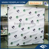 Shop promotional round stand banner