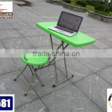 Newest popular blow molding outdoor furnitue of restaurant tbales and benches with metal legs for wholesale