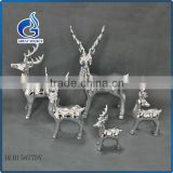 handmade cheap silver ceramic christmas reindeer standing decorative                                                                         Quality Choice