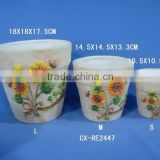 Garden Home terracotta Wall mini pots Flower Pots Set of 3 Cheap