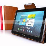 Leather cover book case stand costum case for samsung tablet galaxy tab2 p5100 cover case