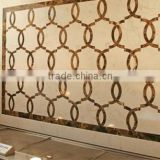 wall decoration natural stone marmol, marble mosaic tiles, round stone mosaic water jet marble