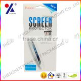 SCREEN GUARDS GIFT PACKAGE WITH A PAPER COVER AND PLASTIC WINDOW / SCREEN PROTECTOR FILM PACKAGING CASE for IPHO / FACTORY PRICE