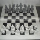 Black and White Marble Chess Set i best price