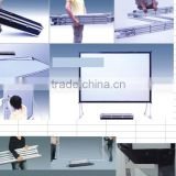 High quality rear projection screen fabric 150 inch grey projector screen for window show