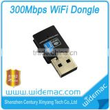 802.11 n/g/b 300Mbps Mini Black USB2.0 WiFi Wireless Network Adapter