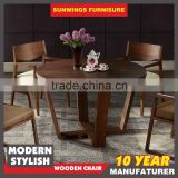 2016 good prices china famous brand baroque round wood dining table