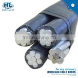 33kv abc aerial bundle cable AAC wire ACSR netural cable #4 AWG triplex aluminum clam ABC cable