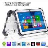 ST935 fingerprint reader Android/Windows10 dual boot rugged tablet RS232 barcode scanner NFC RFID IPS tablet 10.1''touch screen