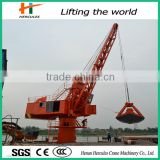 360 Degree Rotation Offshore Pedestal Port Crane