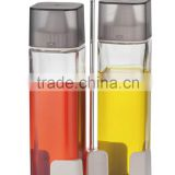SINOGLASS trade assurance wholesale 270ml non drip spout glass oil and vinegar bottle with rack