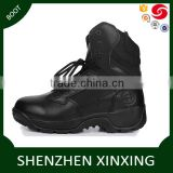 soft leather boots for men/military boots/black shoes
